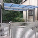 ガレージの門扉 オーバードアタイプの設置例3