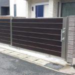 ガレージの門扉 引戸タイプの設置例1