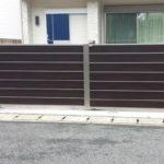 ガレージの門扉 引戸タイプの設置例2
